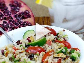 Quinoa Pomegranate Salad Video