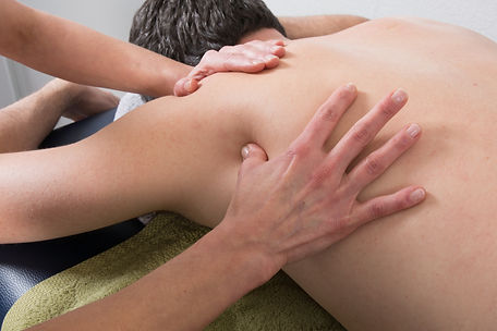 Close-up of person receiving Shiatsu Tre