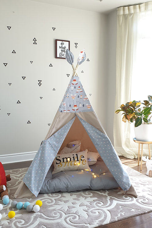Bear, Owl, Teepee and Arrows Combo Tent