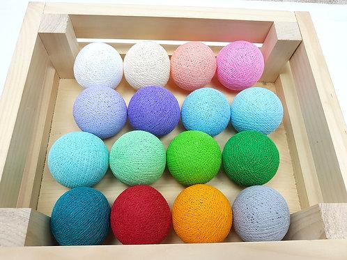 MIX'N'MATCH different colors Cotton Balls String Light