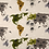 Thumbnail: World Animal Map Taupe Teepee Tent