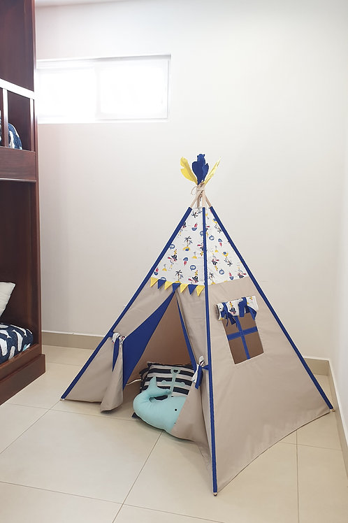 AHOY! Pirate Theme Play Teepee Tent for boys.