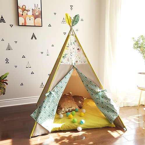 Once Upon a Time Princess Dragon Knight Teepee Tent Double Sided Doors
