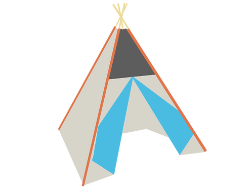 Build your own Teepee front top and double-sided doors No window
