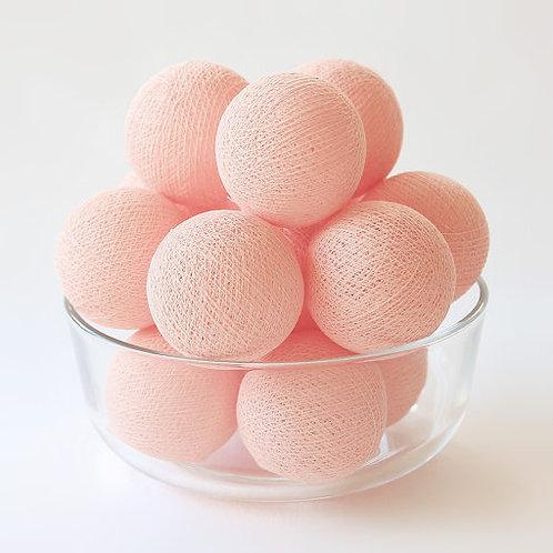 Peach Cotton Balls String Light