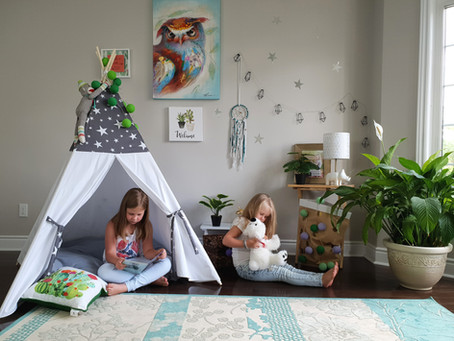 How to assemble kid's teepee.