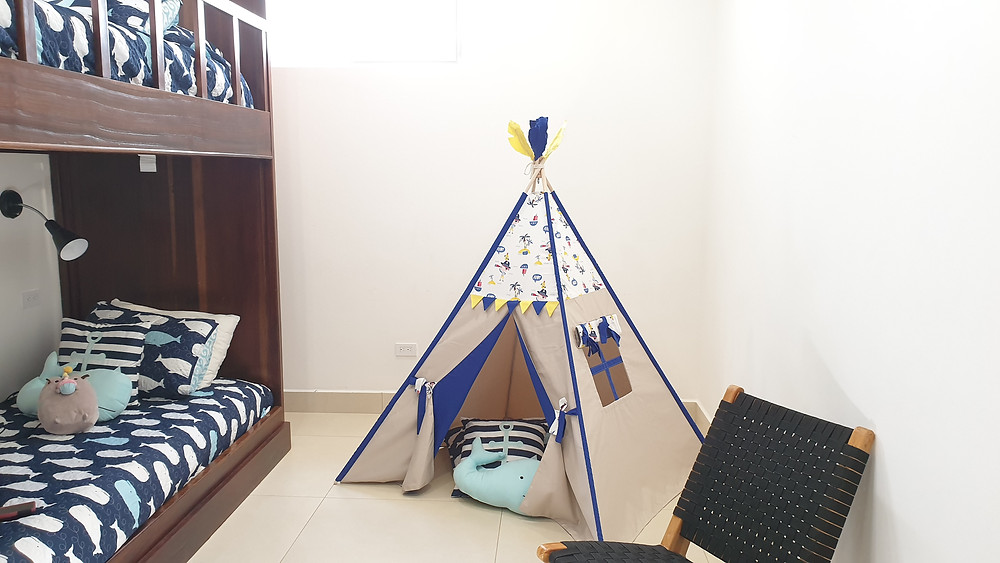 pirate blue nautical marine teepee play tent