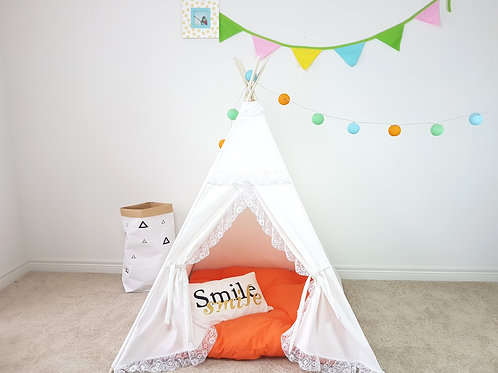 One Layer Princess' Ivory or White Teepee
