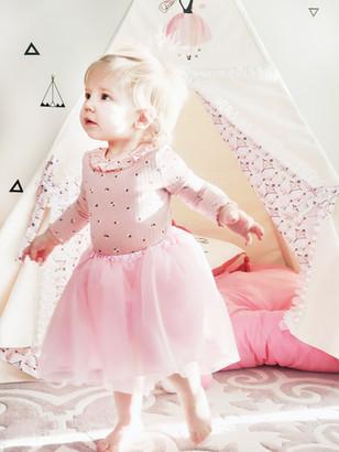 Ballerina ivory pink princess girl play