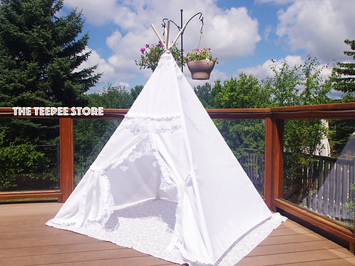 Double Layer of Frills Princess White OR Ivory Teepee