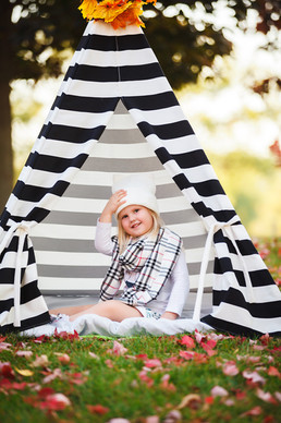 Black and White stripes play teepee tent