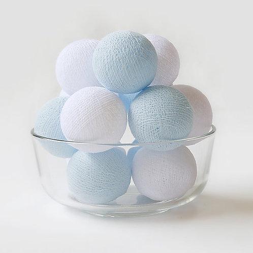 Blue/White Cotton Balls String Light