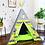 Thumbnail: GoDozer Green Yellow WhiteStripes Grey Boy's Play Teepee Tent