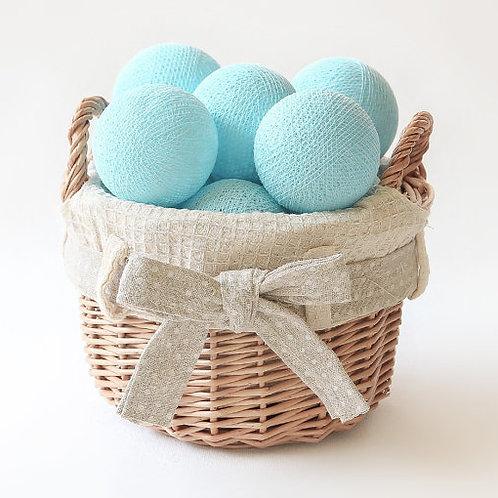 Blue Cotton Balls String Light