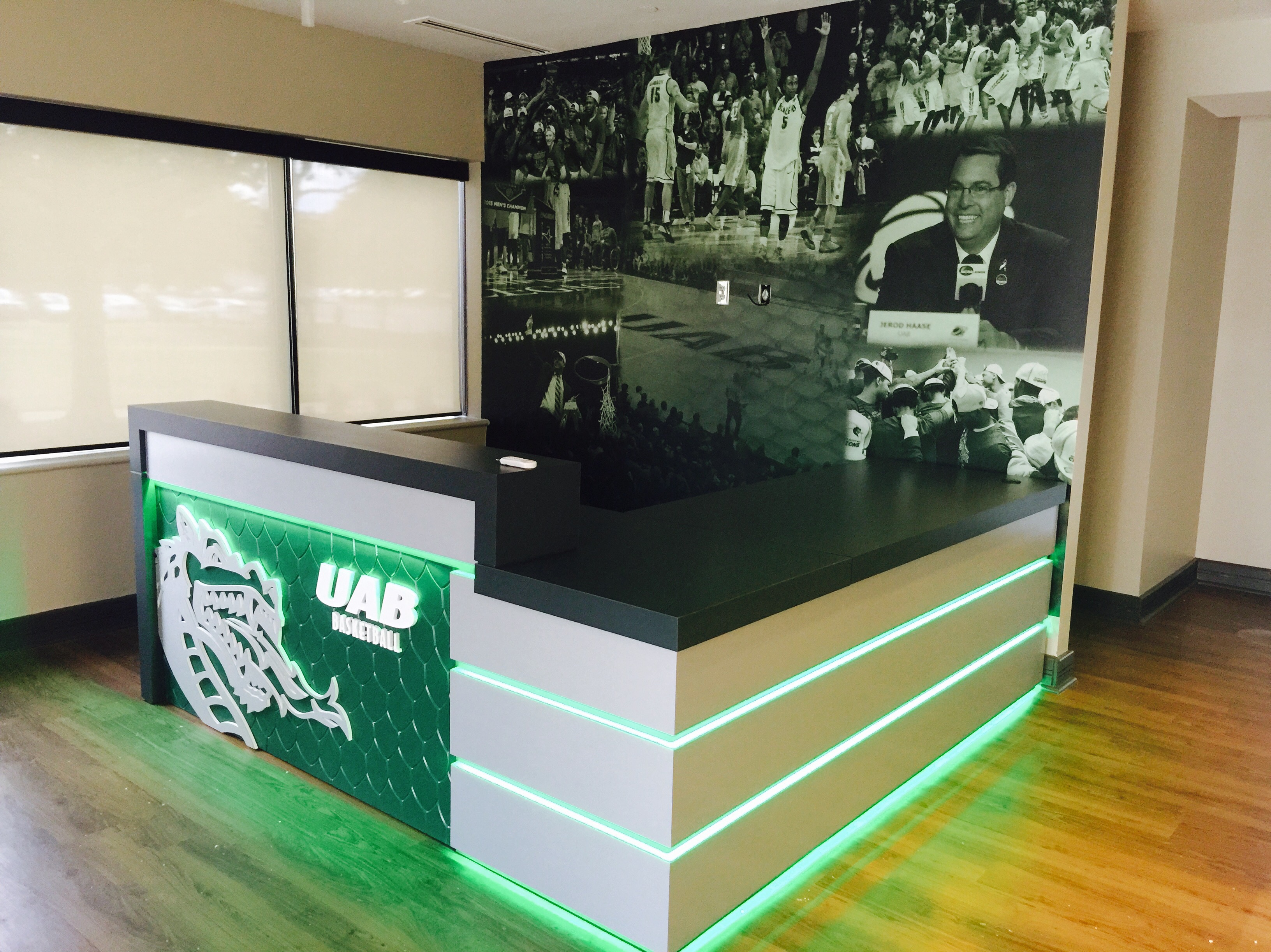 UAB reception desk