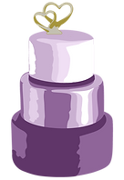 Drawing of a three tier wedding cakeakec