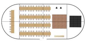 Sample three-pole marquee floor plan