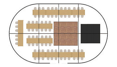Suggested floor plan for a 78-guest small package