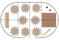 Sample two-pole marquee floor plan