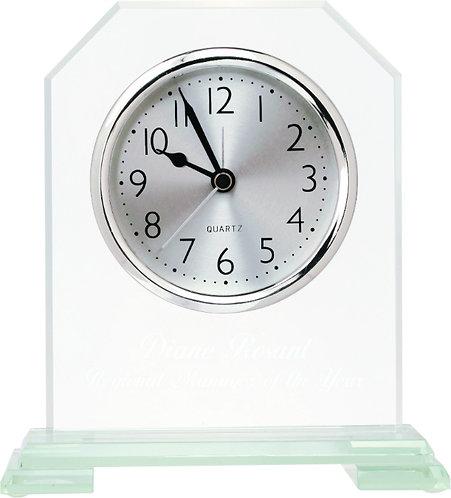 Clipped Corner Glass Clock