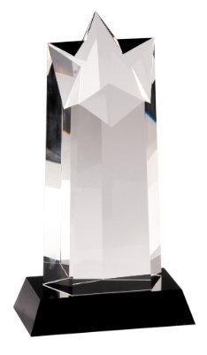Premier Crystal Star Column on Black Crystal Base