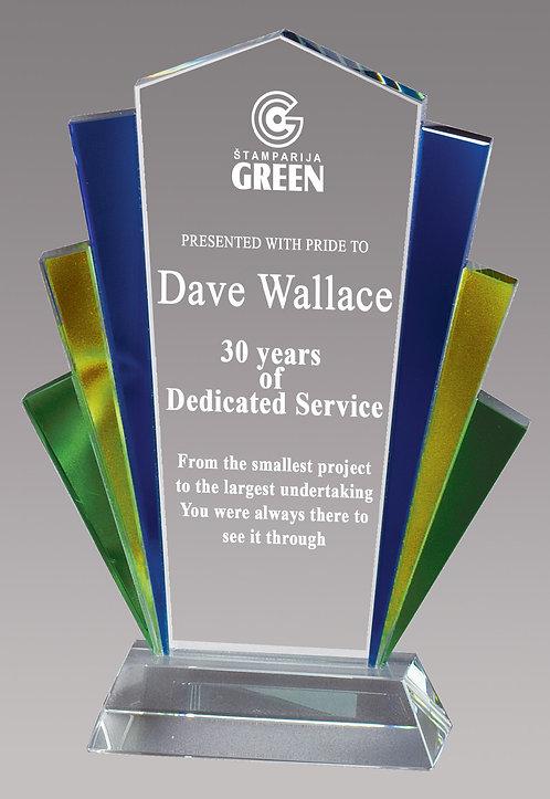3 Color Glass Fan Award