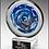 Thumbnail: Disc Art Glass on Clear Glass Base