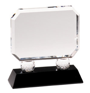 Premier Rectangle Crystal on Pedestal Base