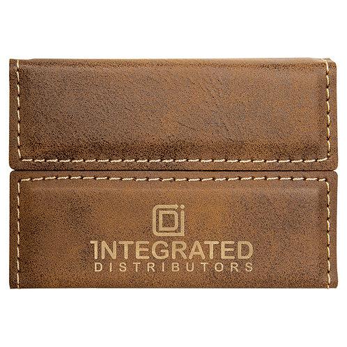 Hard Leatherette Business Card Holder