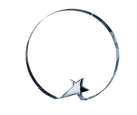 Crystal Circle with Silver Star