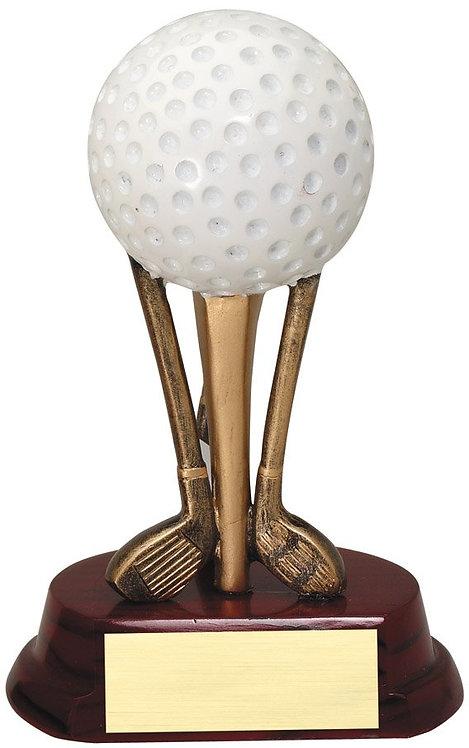 Golf Balls On Clubs
