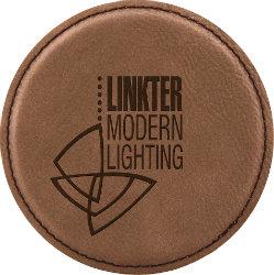Round Leatherette Coaster