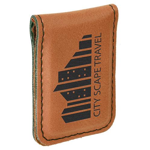 Leatherette Money Clip