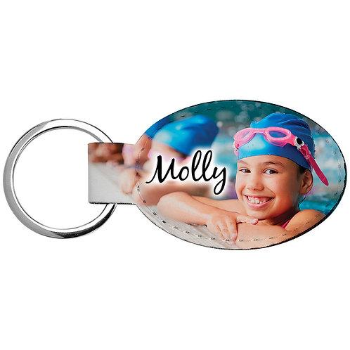 Oval Custom Keychain