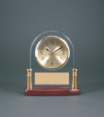 Arch Glass Desk Clock