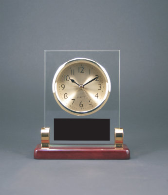 Rectangle Glass Desk Clock