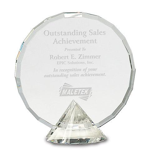 Premier Round Crystal on Diamond Base