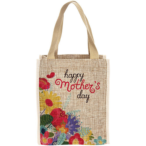 Personalized Burlap Bag with Gusseted Bottom