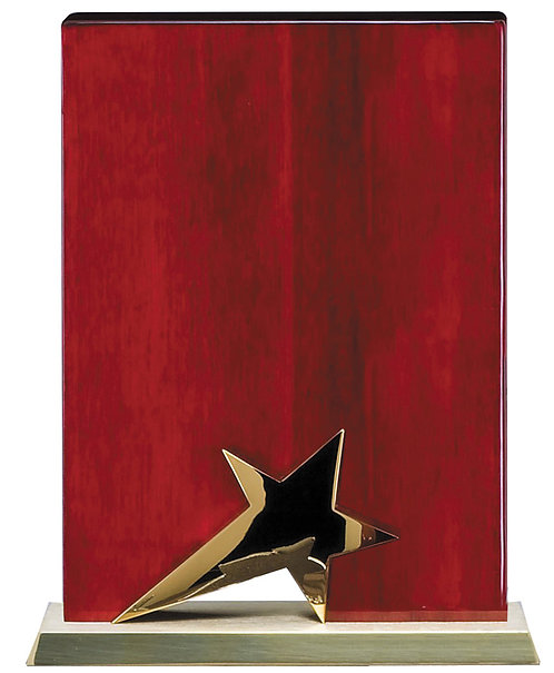 Gold Star on Rosewood Piano Finish Plaque