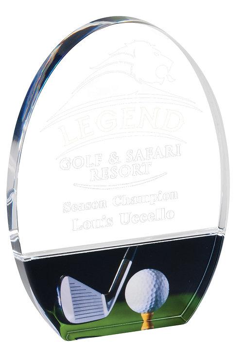 Full Color Acrylic Golf Award