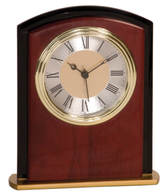 Mahogany Finish Square Arch Clock