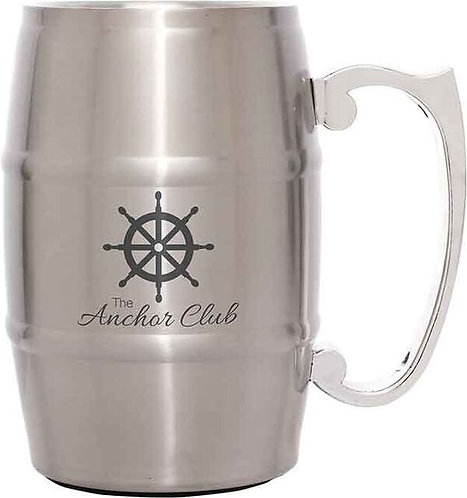 Metal Barrel Mugs with Handle 17 oz.