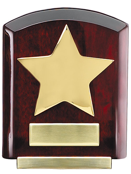 Gold Star on Rosewood Piano Stand-Alone Plaque