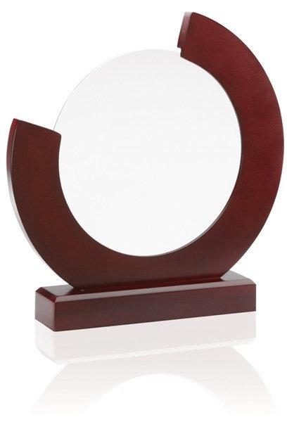 Circle Glass on Wood