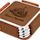 Thumbnail: Square Leatherette Coaster Set with Silver Edge
