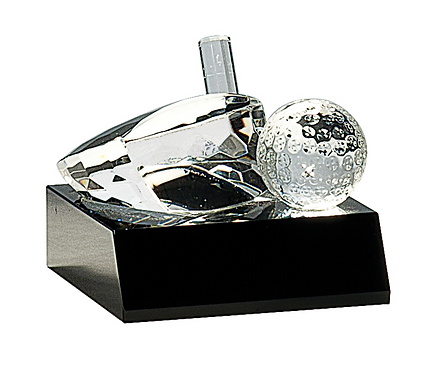 Crystal Golf Ball & Club