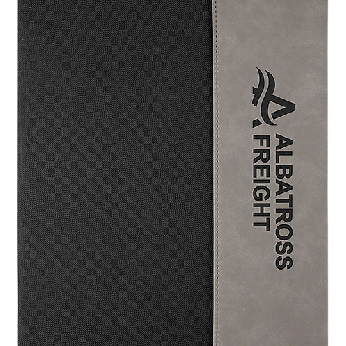 "Medium 7"" x 9"" Leatherette Canvas Portfolio with Notepad"
