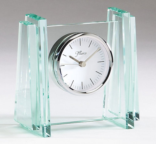 Corporate Crystal & Glass Clock - Q403