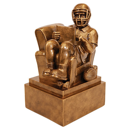Fantasy Football Man in Chair Resin
