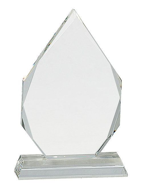 Diamond Crystal on Clear Pedestal Base